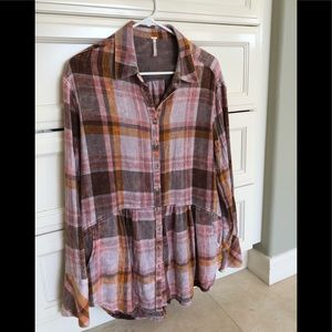 Free People Tunic Flannel